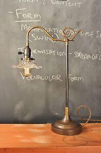 Parisian Parlor Lamp - Vintage Antique Industrial Desk Task Light