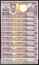 10x Suriname 100 Gulden 1986 Unc pn 133a