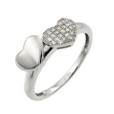 STR00970/ 925  STERLING SILVER LADIES DESIGNER  HEART  RING W/MICRO PAVE DIAMOND