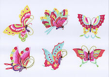 Chinese Paper Cuts 10 Single Butterfly Set 10 colorful small pieces Zhou
