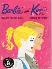 1961 Barbie and Ken Wardrobe Booklet - Great Condition - Free Shipping