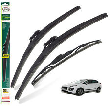 """Peugeot 3008 2009-2016 replacement set of 3 wiper blades HYBRID 32"""" 28""""TL 12""""C"""