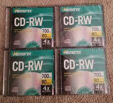 Memorex CD-RW 4X 80 MIN 700MB Rewritable Compact Disc 4 New