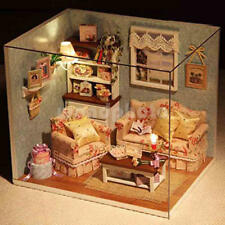 GIFTS DOLLHOUSE MINIATURE DIY HOUSE KIT ROOM WITH FURNITIURE AND COVER ARTWORK 5