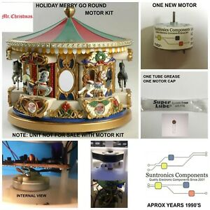 Mr Christmas 1990's Holiday Carousel Merry go Round  REPLACEMENT MOTOR KIT
