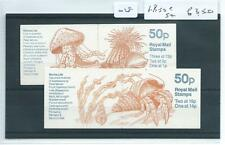 wbc. - GB - STAMP BOOKLETS - 028 - 50p - FB50 & 54 - MARINE LIFE -  2 booklets