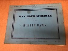Man Hour Schedule book for the Humber Hawk