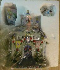 Disney World Princess Lighted Village Sca Castle Snow White & Other Figure 45925