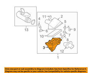 NISSAN OEM Air Cleaner Box-Bottom Lower Housing Body 165287S000