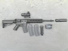 1/6 Scale Toy Phantom Black Muticam Version - Black AR-15 Assault Rifle