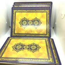 Vintage Set 6 Pimpernel Table Placemats 30cm x 23cm made In England Cork Back