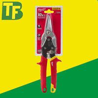 Milwaukee 48224530 Straight Cut Yellow Handle Metal Tin Snips / Aviation Snips