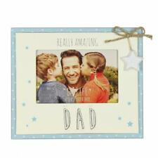 Vintage Wooden Really Amazing Dad Sentiment Photo Frame Gift FW555D