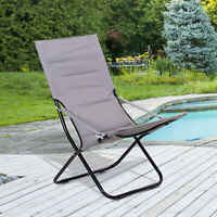 Outsunny Garden Chair Outdoor  Beach Chair Portable Padded