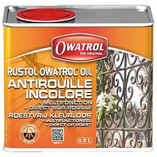 RUSTOL OWATROL 500 ml DIRECT ROUILLE INCOLORE   STOPPE LA ROUILLE