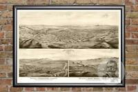 Vintage Los Angeles, CA Map 1877 - Historic L.A. California Art - Old Industrial