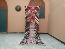 "Handmade Vintage Moroccan Rug,2'72""x9'25""Feet,Berber Azilal Wool Handmade Carpet"