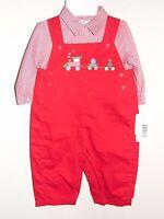 "Little Boys Boutique ""Petit Ami"" Two Piece Christmas Romper Size 6M NWT"