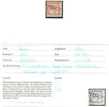 Baden Michelnummer 20 b Briefstück (europa:18989) geprüft Englert