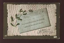 France Telegramme Bonne Annee used 1916 PPC