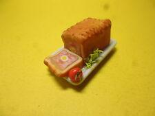 1/12 scale Dolls House Food  Gala Pie  on Plate  BM20M