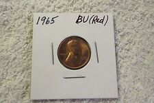 1965 Lincoln Cent (CHOICE BU Red) - Beautiful Coin!!