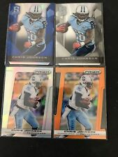 2013 Panini Spectra blue Chris Johnson + 2013 prizm gold Lot 4 cards numbered