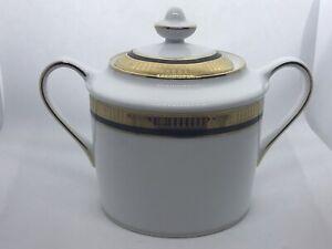 Bernardaud Madison Platinum Sugar Bowl and Lid ~new~