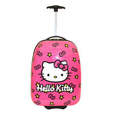Hello Kitty Star and Bow ABS Luggage with Rolling and Telescopic Handle New.
