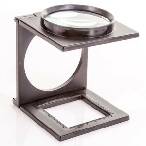 HANDS FREE MAGNIFYING GLASS ON STAND Third Hand Hobby Craft Folding Magnifier