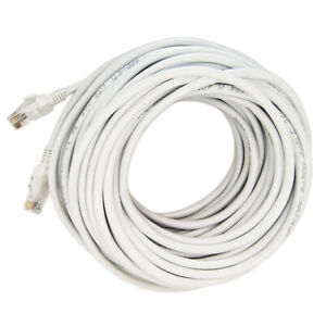 75FT CAT5E RJ45 Patch Ethernet Network Cable Computer Cord Grey for PC Internet