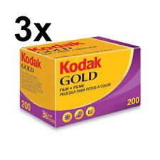 3 pezzi pellicola rullino Kodak GOLD 36 foto 200 ISO 35 mm SCADENZA 2022