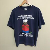 I'm Gonna Make Love To You Woman Chef South Park Vintage 90's T-Shirt Mens Large