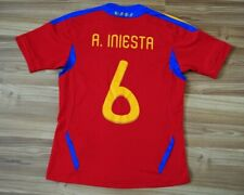 A.INIESTA SPAIN NATIONAL TEAM HOME FOOTBALL SHIRT 201112 JERSEY 15-16Y XL 176 cm