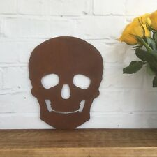 Rusty SKULL SKELETON head Sign Metal Shop Home bar Pub barbershop Pirate