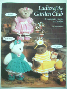 """Clothes dresses booties crochet pattern for 12"""" bears Ladies of the Garden"""
