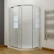 Quadrant Shower Enclosure Walk in Corner Cubicle Glass Screen Door Tray Waste 900x760mm Right Hand Yes