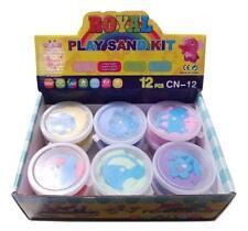Box of 12 Small Space Moon play Sand, Mold-N-Play Creative Kids Kinetic Diy Gift