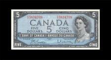 "1954 BANK OF CANADA QEII $5 **Beattie & Rasminsky** ""C/X"" (( GEM UNC ))"
