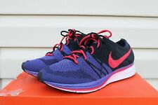 VNDS Nike Flyknit Trainer Siren Red Persian Violet AH8396-003 NO BOX Sz 10