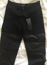 BCBG Max Azria Womens Conan Pants Faux Leather Black Size XXS Moto Legging