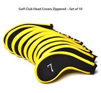 Golf CC010US POSMA Club Head Covers Zippered - Set of 10 - Approach Headcover