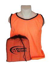 set 12 Adult orange Blank Scrimmage Vests pinnies bibs soccer football lacrosse