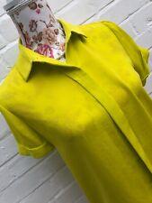 BNWT Zara Lime Green / Yellow  Shirt Blouse XS Floaty Summer Boxy