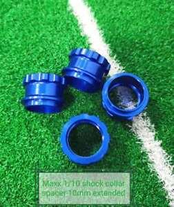 VITAVON Alu CNC  Shock Collar Spacer 10mm extended for Traxxas MAXX 1/10 Blue