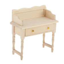 Wooden Writing Laptop Desk Vanity Table for 1:12 Doll House Accessories Toys
