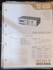 Sony TC-U30 cassette deck service repair workshop manual (original)