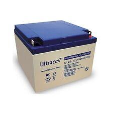 Ultracell UL26-12: Batterie au plomb étanche 12V 26AH :166,5x175x125mm