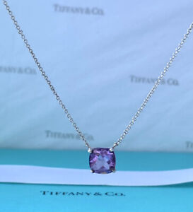 TIFFANY & Co Sparklers Amethyst Gemstone Necklace 1.5ct 16 Inches
