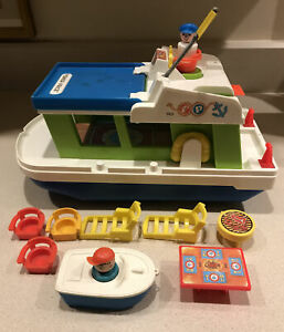 Fisher Price Little People Happy House Boat Yacht 985 (1972) & Components